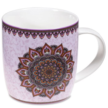 Set Teetasse Mandala lila