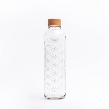 Glastrinkflasche CARRY 0.7 l FLOWER OF LIFE Made in Germany
