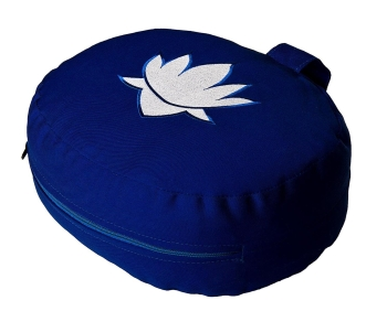 Meditation cushion - lotus oval - seconds - blue