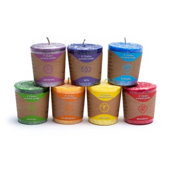 7 chakra scented candles - stearin