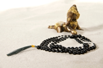 Mala prayer beads - agate - black