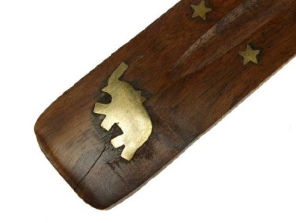 Incense holders wooden elephant 25 cm