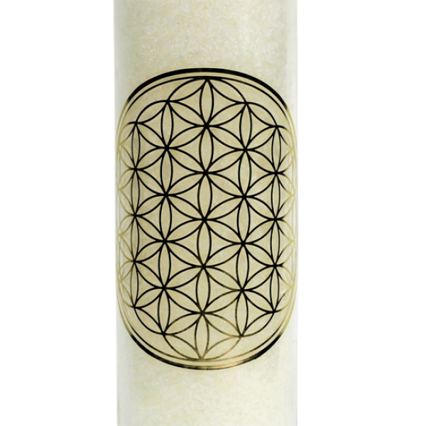 Fragrance candle flower of life white