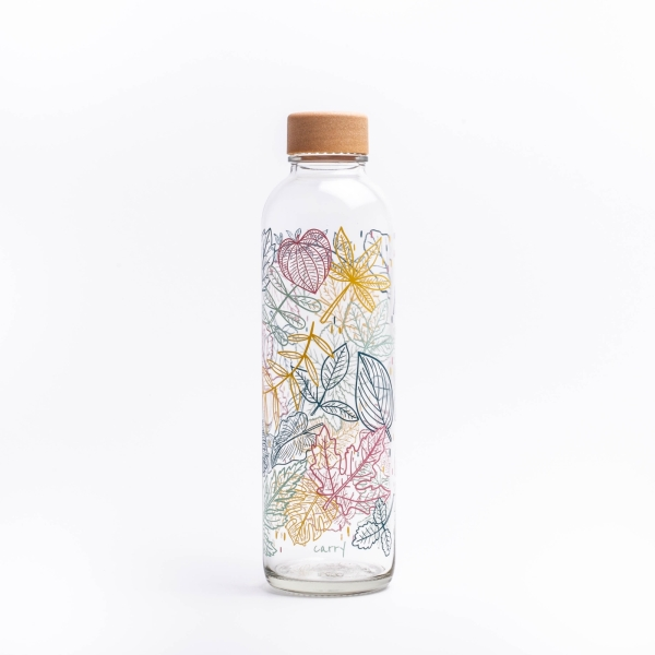 Glastrinkflasche CARRY 0.7 l FALLING LEAVES Made in Germany